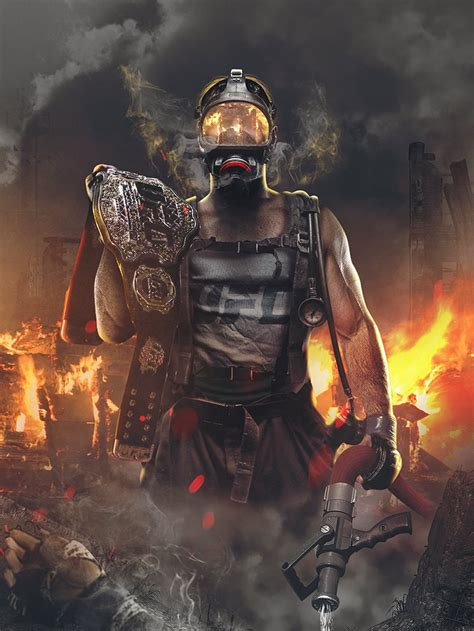 sick bosslogic poster from stipe miocic (the firefighter