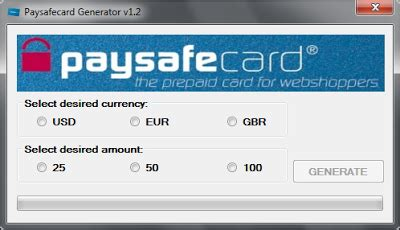 PaySafeCard Codes Generator, unlimited PaySafeCard Codes