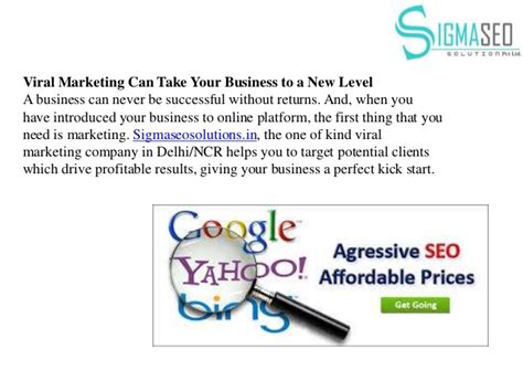Know about viral marketing by sigma seo solutions