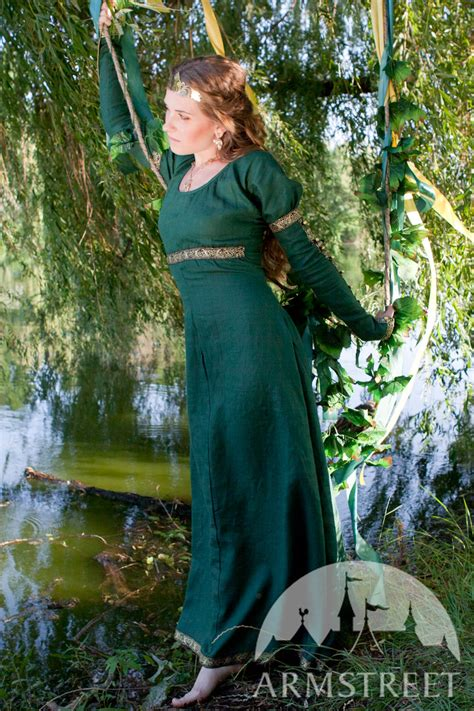 This is an elegant natural flax linen dress