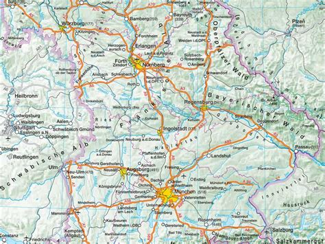 Geography of Bavaria southern Germany