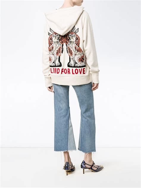 Lyst - Gucci 'fake' Embroidered Hoodie