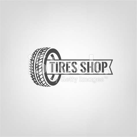 Beautiful vector illustration of the tire shop logotype
