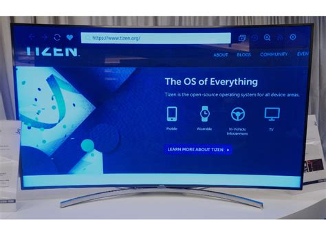 Close-up with Samsung's Tizen OS TV prototype - CNET