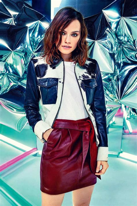 Daisy Ridley in ASOS Magazine - Leather Celebrities