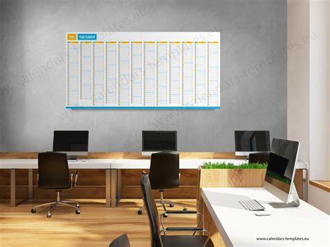 2021 Yearly wall planner KP-W11 - Calendar Template