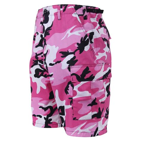 Pink Camouflage Military Style BDU Short