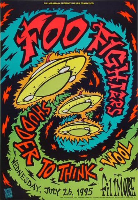 Foo Fighters Vintage Concert Poster from Fillmore