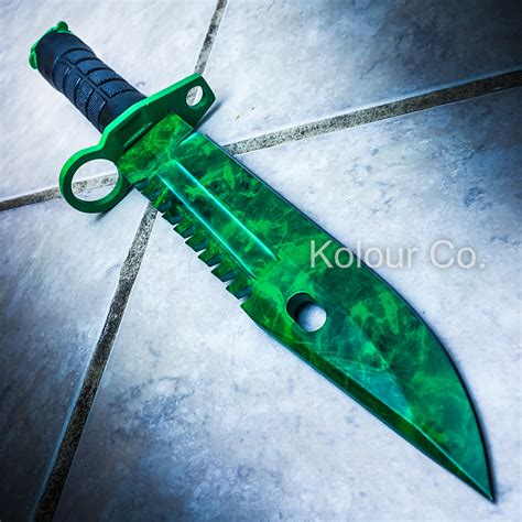 """13"""" CS GO Tactical Fixed Blade Hunting Knife Bayonet Bowie"""