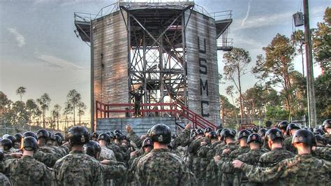 Acrophobia Not An Option For Marines – Rappel Tower Parris
