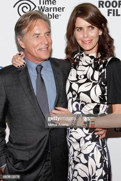 """Actor Don Johnson and wife Kelley Phleger attend """"Cold In"""