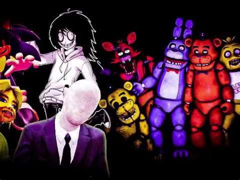 Creepypasta and fnaf - you can't escape me (crossover