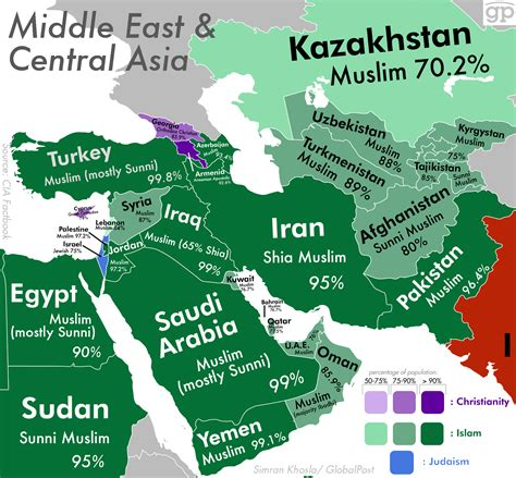 The Most Religious Places in the Middle East and Central
