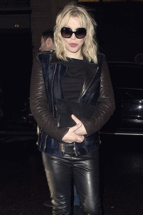Courtney Love attends Balmain's party - Leather Celebrities