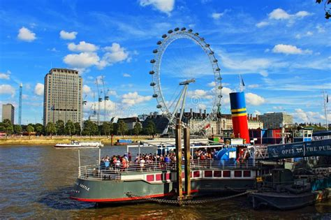 Restaurant Boat On The River Thames Editorial Image