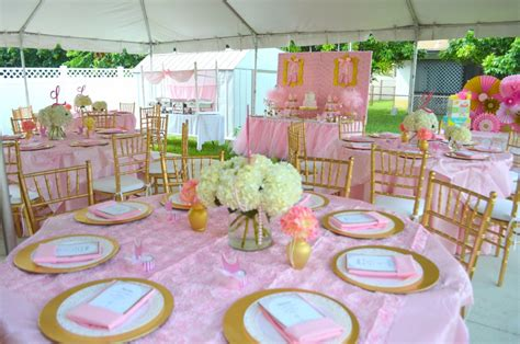 PINK AND GOLD BALLET THEMED BABY SHOWER