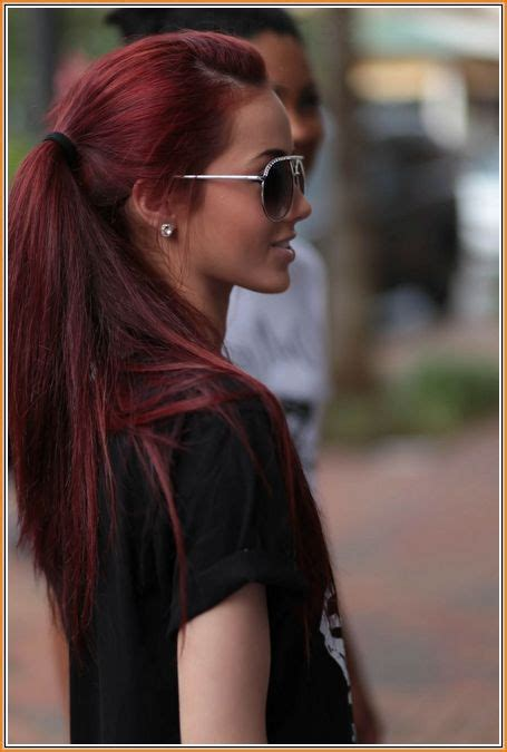 red brown hair - Google Search   Wine hair color, Wine
