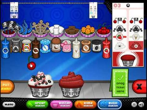 Papa's Cupcakeria - All Pirate Bash Toppings Unlocked