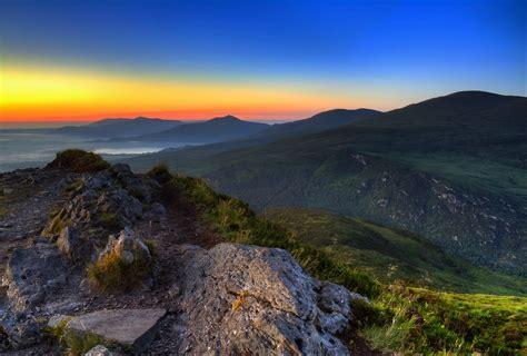 Sunrise viewed from Torc mountain