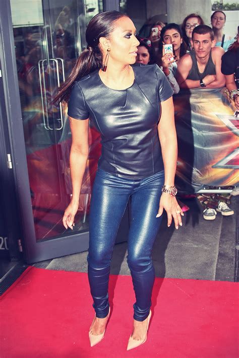 Mel B at X Factor auditions in London - Leather Celebrities