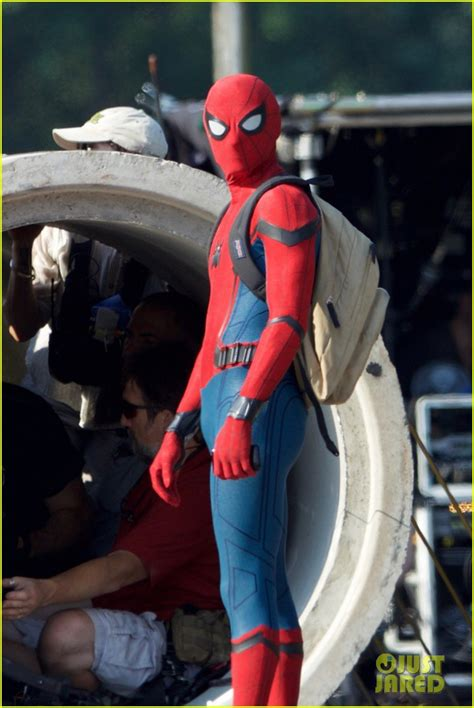 Tom Holland Wears 'Spider-Man' Costume for First Time on